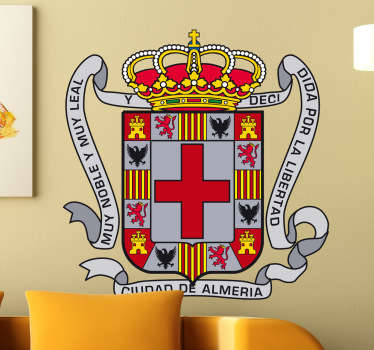 Vinilo decorativo escudo Almería