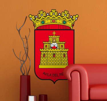 Vinilo decorativo escudo Ávila