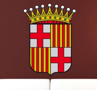 Adhesivo a todo color con el emblema característico de la ciudad condal, de nuestra amplia colección de vinilos decorativos.