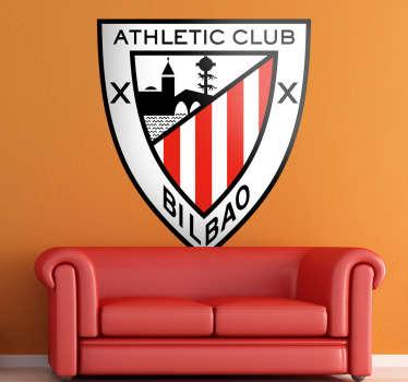 La afición vasca puede lucir orgullosa los colores del escudo de su equipo con este adhesivo decorativo y personaliza tu hogar.