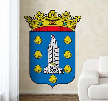 Adhesivo a todo color con el emblema del famoso municipio gallego, de nuestra amplia colección de vinilos decorativos.