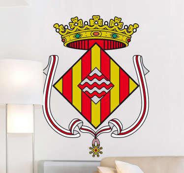 Vinilo decorativo escudo Girona