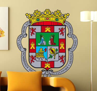 Dekorieren Sie Ihr Zuhause mit diesem Emblem von Granada als Wandtattoo! Damit bringen Sie Stil und Geschichte an Ihre Wände