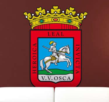 Vinilo decorativo escudo Huesca