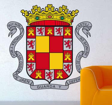 Vinilo decorativo escudo Jaén