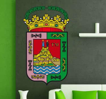 Vinilo decorativo escudo Málaga