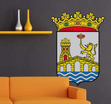 Vinilo decorativo escudo Ourense