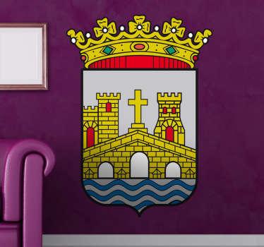 Vinilo decorativo escudo Pontevedra