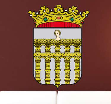 Vinilo decorativo escudo Segovia
