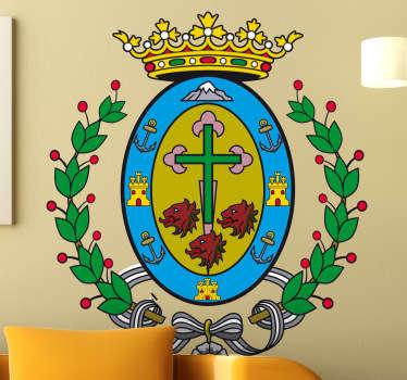 Wandtattoo Emblem Teneriffa