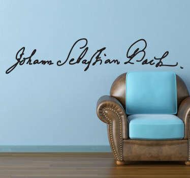 Johann Sebastian Bach Aufkleber