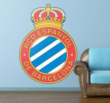 Sports Stickers - Logo illustration of the emblem of Reial Club Deportiu Espanyol de Barcelona, Spanish professional football club based in Barcelona.