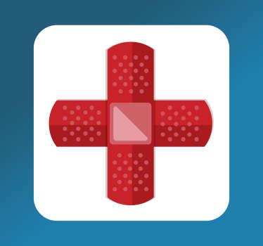Rode kruis eerste hulp sticker