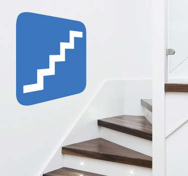 A great icon wall sticker illustrating a staircase sign which is ideal to place in a zone where their a staircase for fire emergencies.