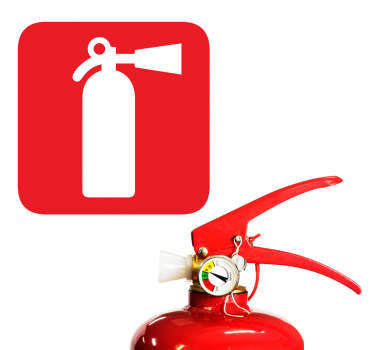 An icon wall sticker indicating where a fire extinguisher would be. Sign decal to make sure your business meets all the safety requirements.