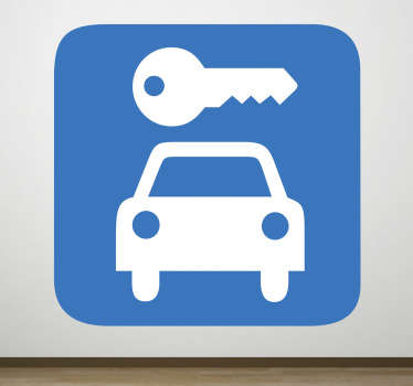 A icon wall sticker illustrating a parking lot sign. Great to place near the parking lot your business offers to customers.