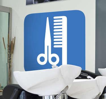 Adhesivo señal peluquería