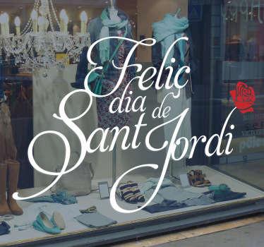 Vinilo decorativo caligrafía Sant Jordi