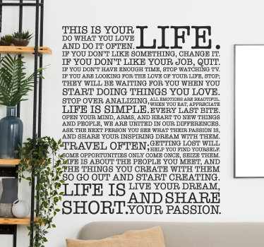 Lessons of Life Wall Sticker