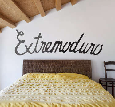 Característico texto caligráfico en adhesivo monocolor de este grupo de rock español.