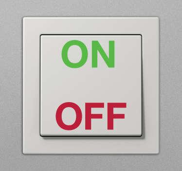 sticker lichtschakelaar on off
