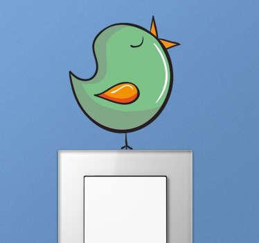 Syngende fugl stickers til stikkontakt