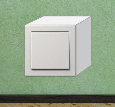 Vinil Decorativo Interruptor Cubo 3D
