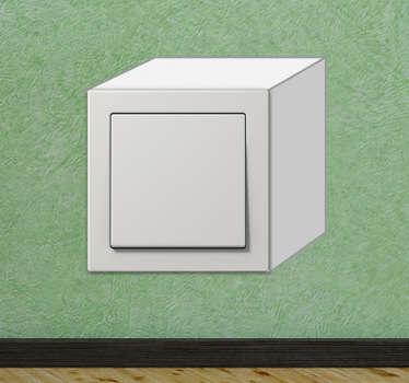 Vinilo interruptor simulación cubo