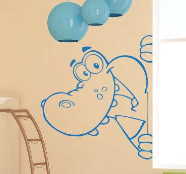 Autocolante decorativo infantil crocodilo