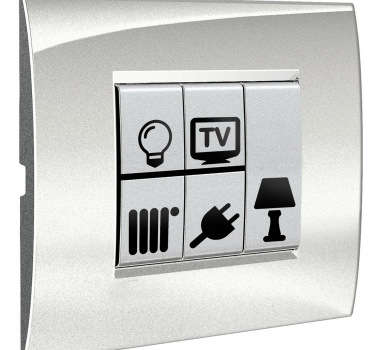 Sticker decorativo icone interruttori