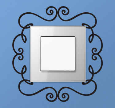 A light switch frame decal illustrating a floral design. A brilliant sticker to give your home a special touch, every little decoration helps!