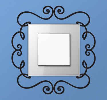 Sticker lichtschakelaar ornamenten