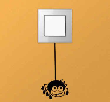Lichtschalter Aufkleber Comic Spinne