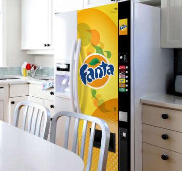 Adesivo decorativo frigo distributore Fanta