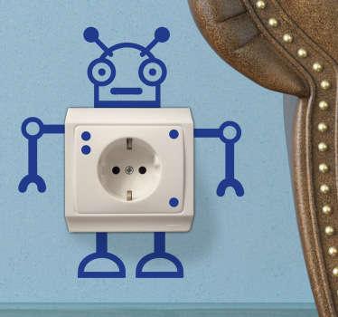 Distracție robot autocolant socket