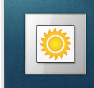 Naklejka na włącznik światła słońce