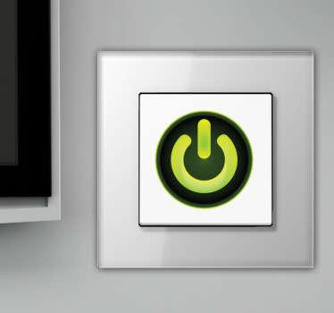 Sticker decorativo botão Power interruptor