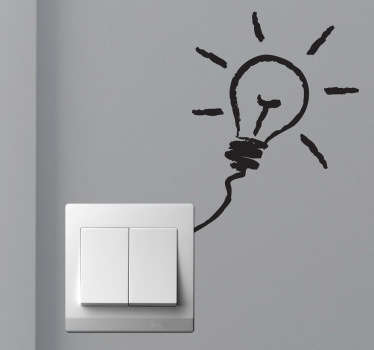Glödlampa omkopplare klistermärke