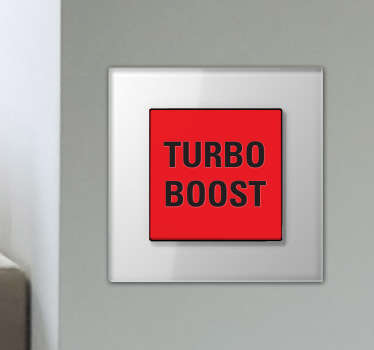 Sticker turbo boost façon Michael Knight dans K2000.