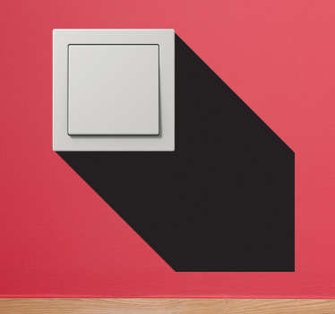 3D Light Switch Shadow Wall Sticker