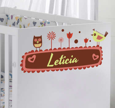 Personalised Name Nursery Kids Sticker