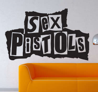 Vinilo decorativo logotipo Sex Pistols