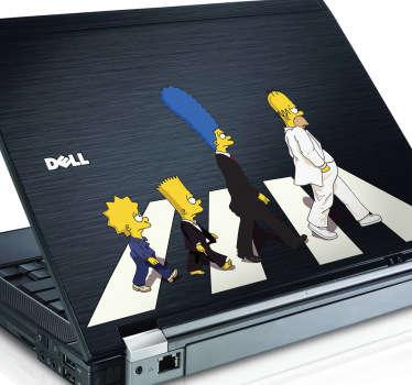 Naklejka na laptop Springfield Road