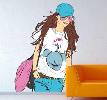 Sticker femme style fashion