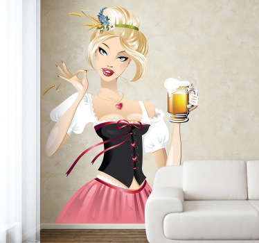Sticker serveuse blonde Oktober fest