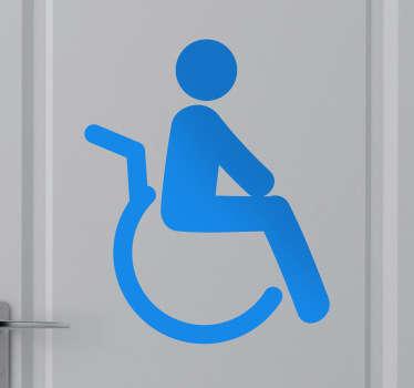 Sticker pictogramme personne invalide