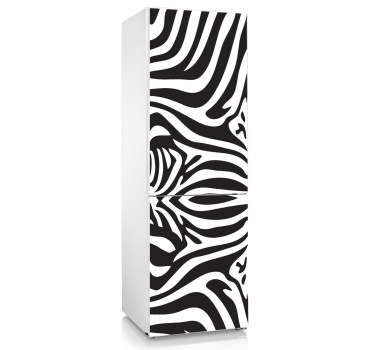Sticker koelkast patroon zebra