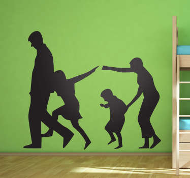 Family Silhouette Wall Sticker