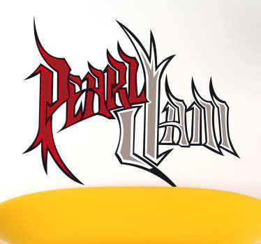 Sticker decorativo logo gotico Pearl Jam