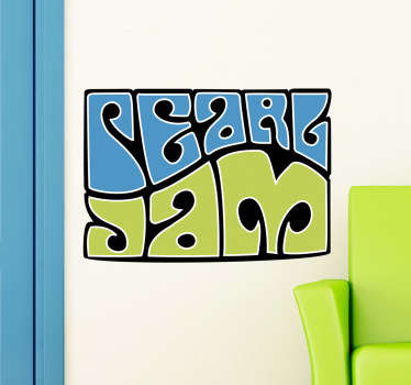 Sticker decorativo Pearl Jam psichedelico